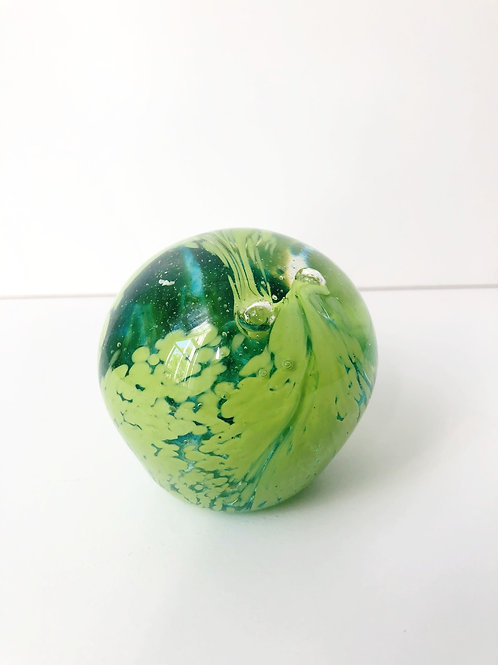 Dragon Egg; lime green w/ aqua blue