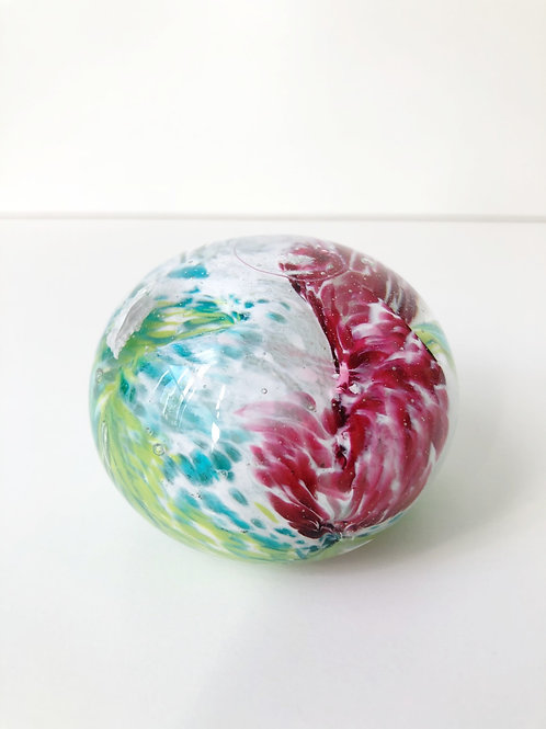 Dragon Egg; white, pink, aqua blue and lime green