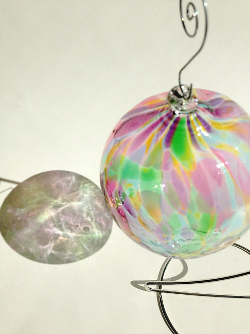 Multi (transparent) Handblown Glass Orb
