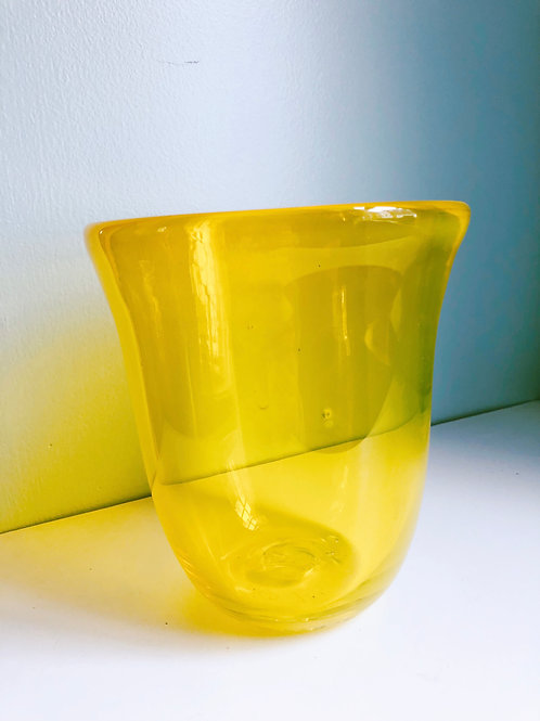 Handblown Glass Vase/ylw
