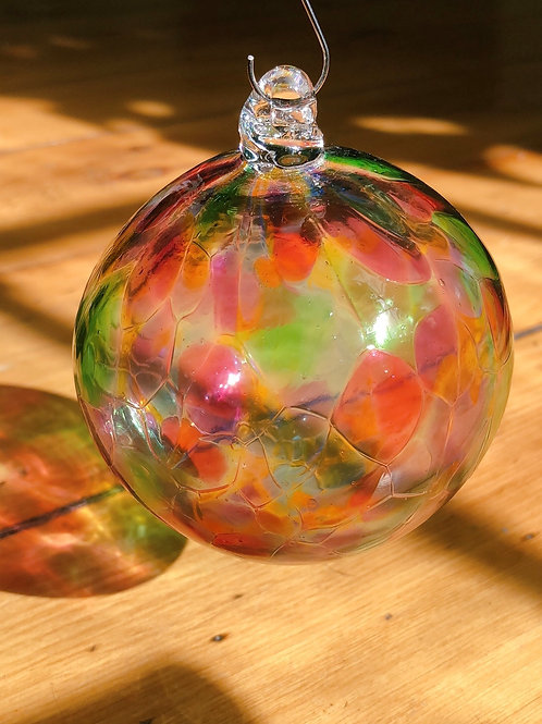 Handblown Glass Ornament/ multi