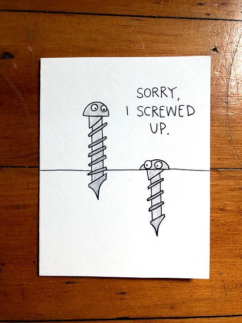 Sorry, I Screwed Up Card