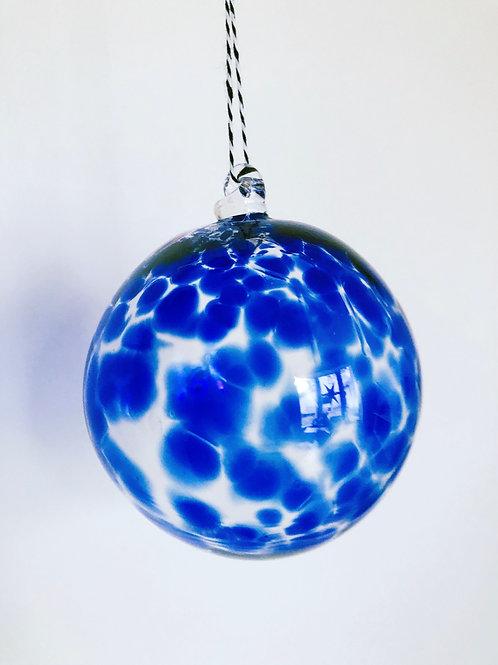 Handblown Glass Ornament/ blue