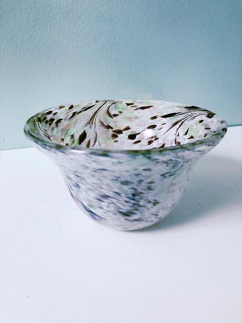 Handblown Glass Bowl/ enchanted