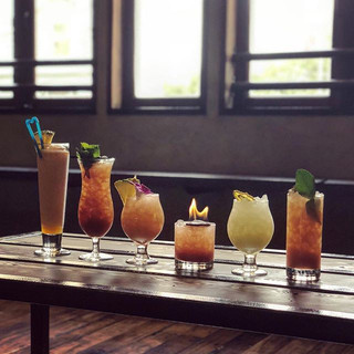 Each specialty cocktail has fresh and or