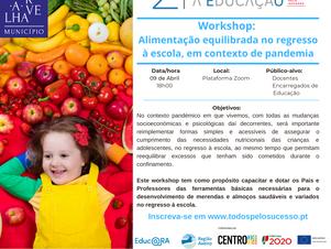 Workshop: Alimentação equilibrada no regresso à escola, em contexto de pandemia