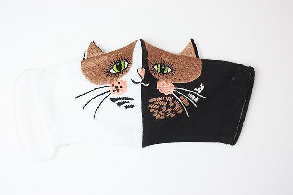 'Pavlova Cat' Embroidered Children's Face Mask