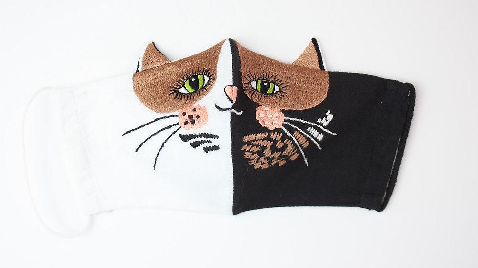 Mini 'Pavlova Cat' Embroidered Face Mask