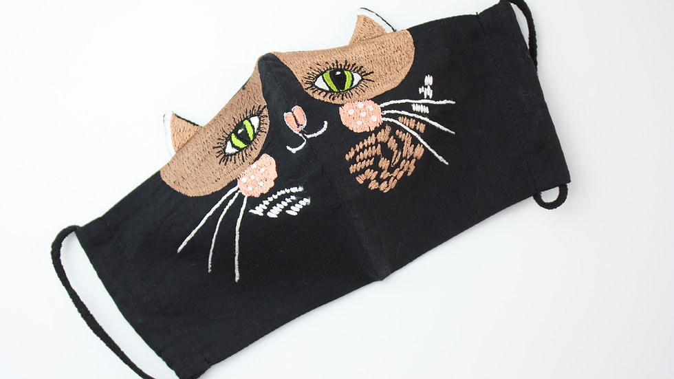 Adult's 'Pavlova Cat' Embroidered Face Mask