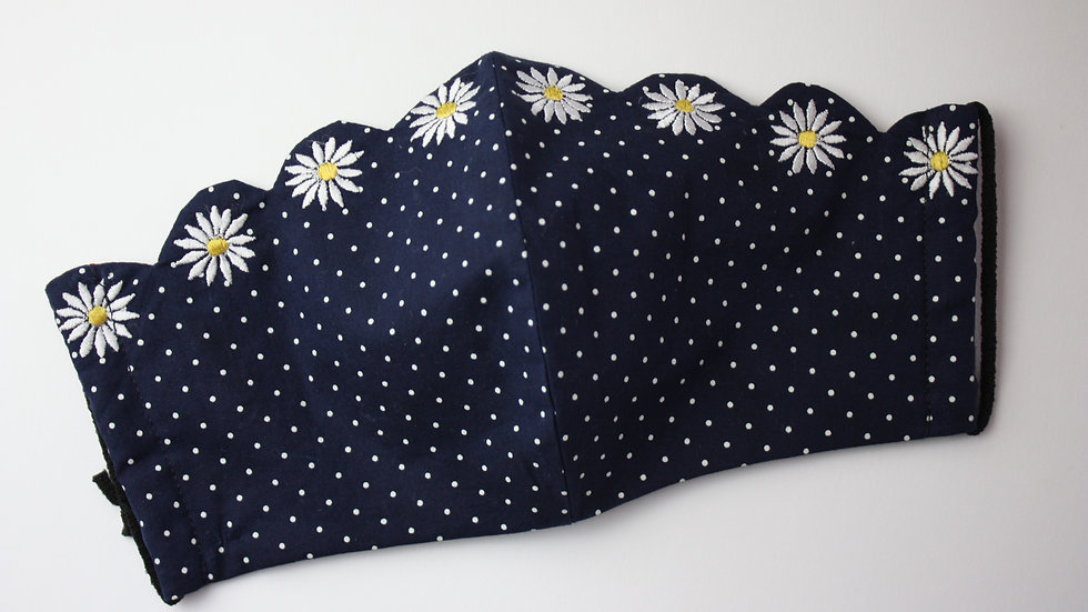 Adult's 'Daisy Chain' Embroidered Reversible Face Mask
