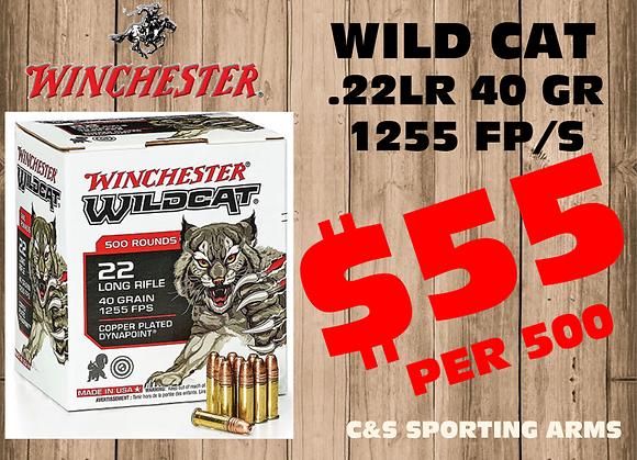 Winchester Wildcat .22lr 40gr 1255fps