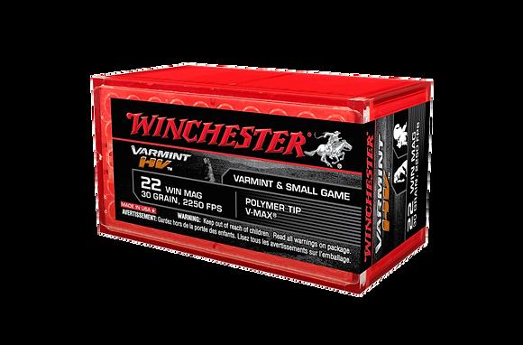 WINCHESTER HV 22WMR 30GR VMAX B-TIP 30GR 2550FPS