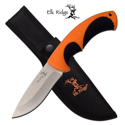 Elk Ridge Orange Rubber Handle Knife