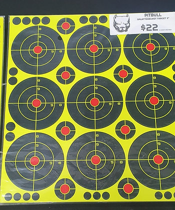 PITBULL SELF ADHESIVE SPLATTER TARGETS 3""