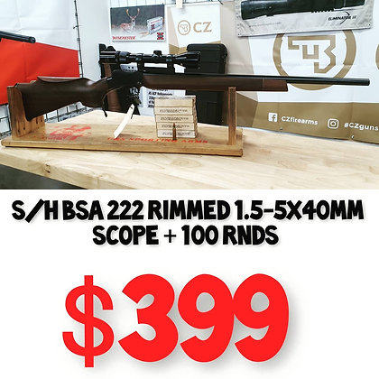 USED 222 RIMMED BSA