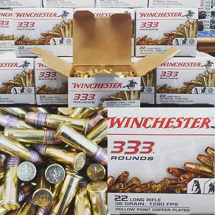 WINCHESTER 333PK 22LR 36GR 1280FPS