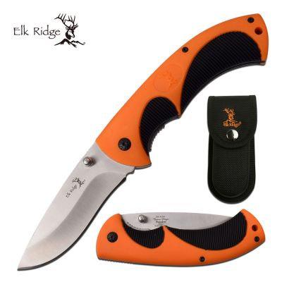 Elk Ridge Black & Orange Folding Knife