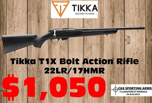 """Tikka T1X Bolt Action Rifle .22LR 20"""" 16"""""""