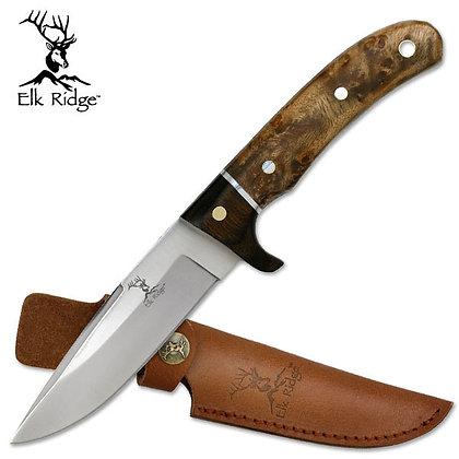 Elk ridge burl wood knife