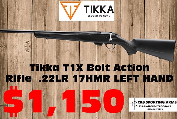 "Tikka T1X Bolt Action Rifle .22LR  17HMR 20"" 16"" - Left Hand"