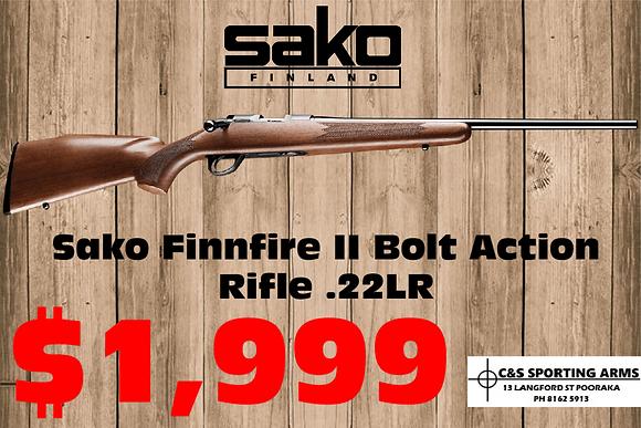 Sako Finnfire II Bolt Action Rifle .22LR/17hmr
