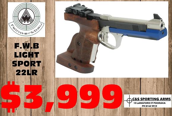 F.W.B AW93 Light Sports Pistol Cal. .22 F.W.B AW93 Light Sports Pistol Cal. .22