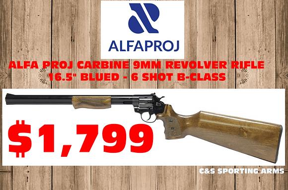 "ALFA PROJ CARBINE 9MM REVOLVER RIFLE 16.5"" BLUED - 6 SHOT"
