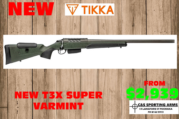 NEW T3X SUPER VARMINT