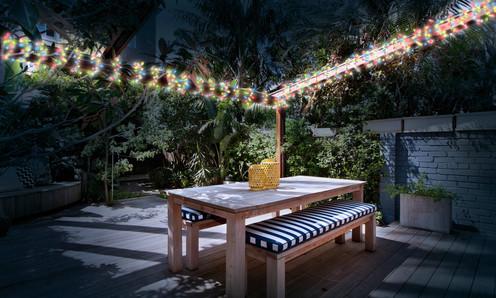 Lampe solaire jardin guirlande LED