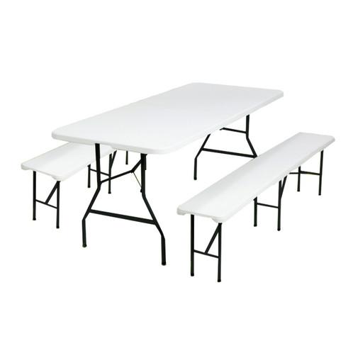 Table Pliante Dappoint 240cm 2 Bancs Pliants