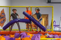 Trampolin Jump Arena Battle Beam Kopie