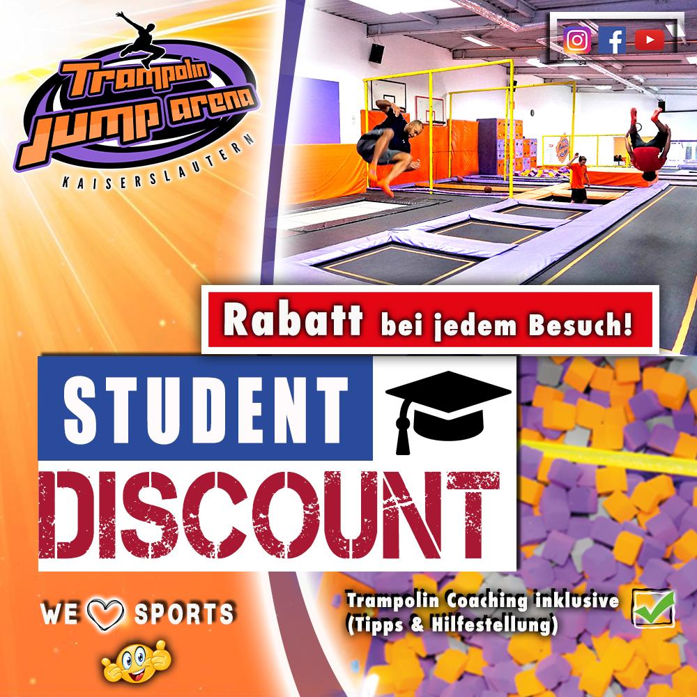 Trampolin Jump Arena Studentenrabatt