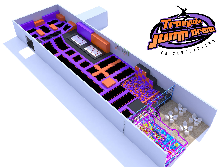Trampolin Jump Arena 3d Design