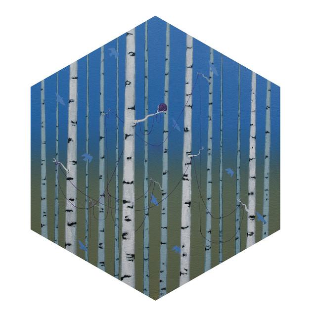 all the hope I had, acrylic on wood panel, 20x17, $600