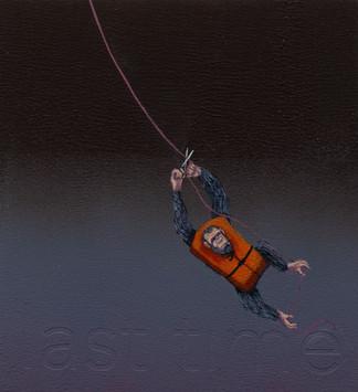 """last time"", acrylic on wood panel, 11x10, -sold-"