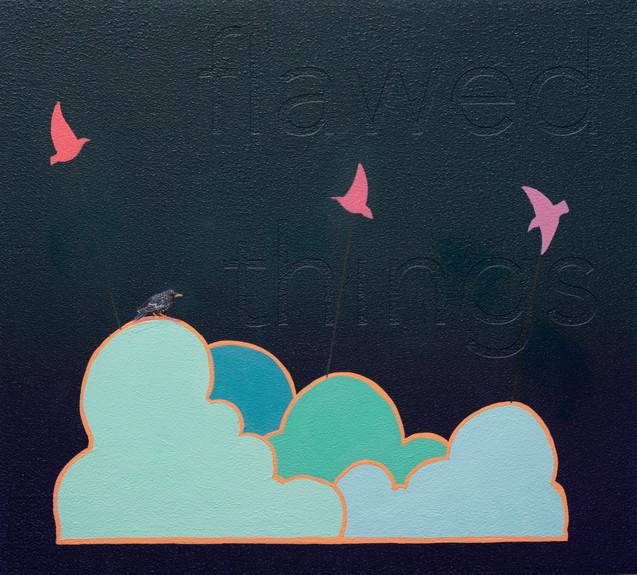 flawed things, acrylic on wood panel, 11x10, $400