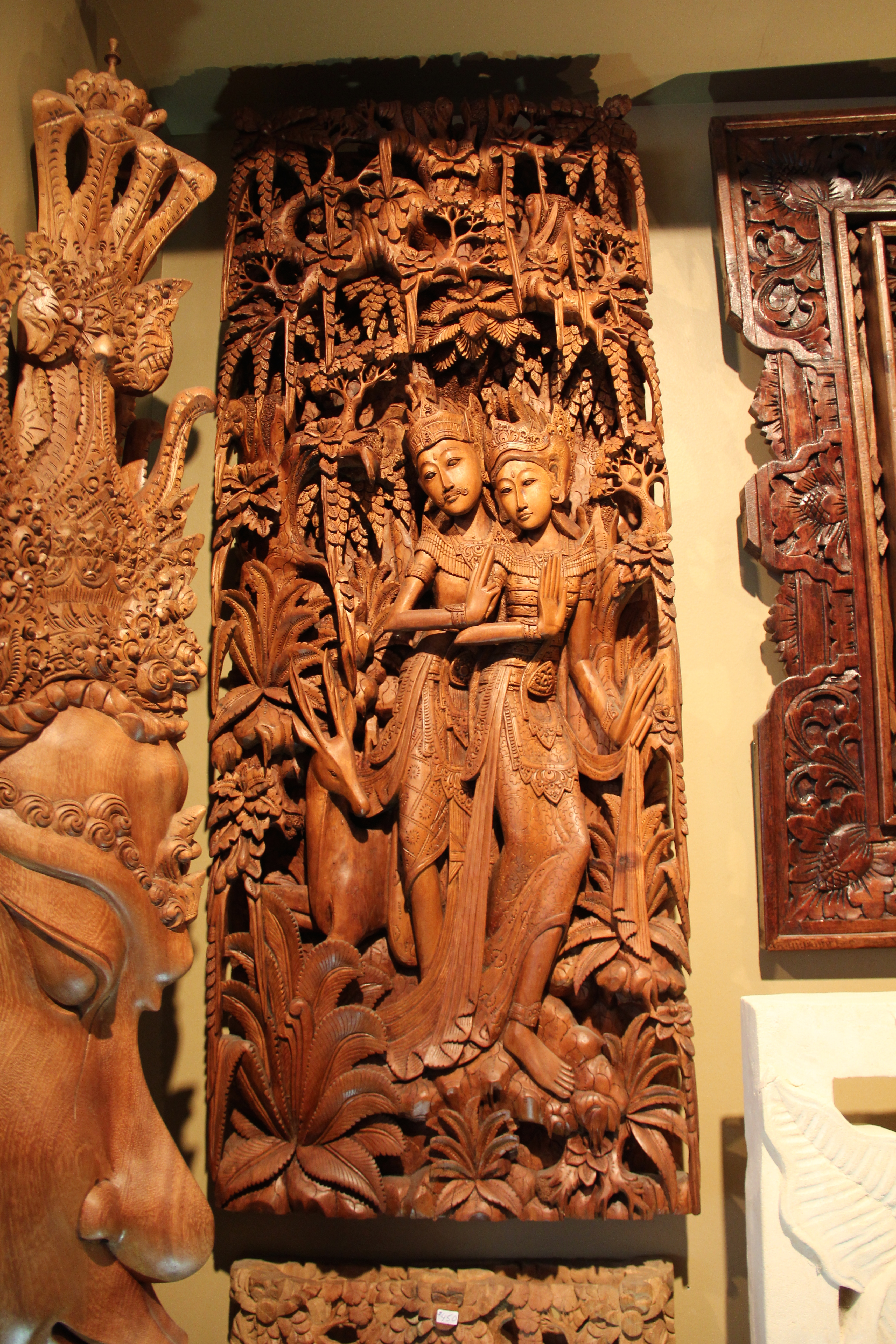 Hindu Gods Relief Carving