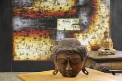 Buddha Head - Teak