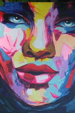 Abstract Kryono Facial Portrait