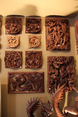 Solid Teak Relief Carvings