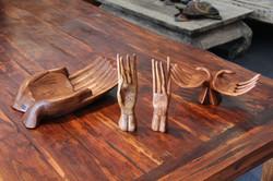 Various Mahogany Hands
