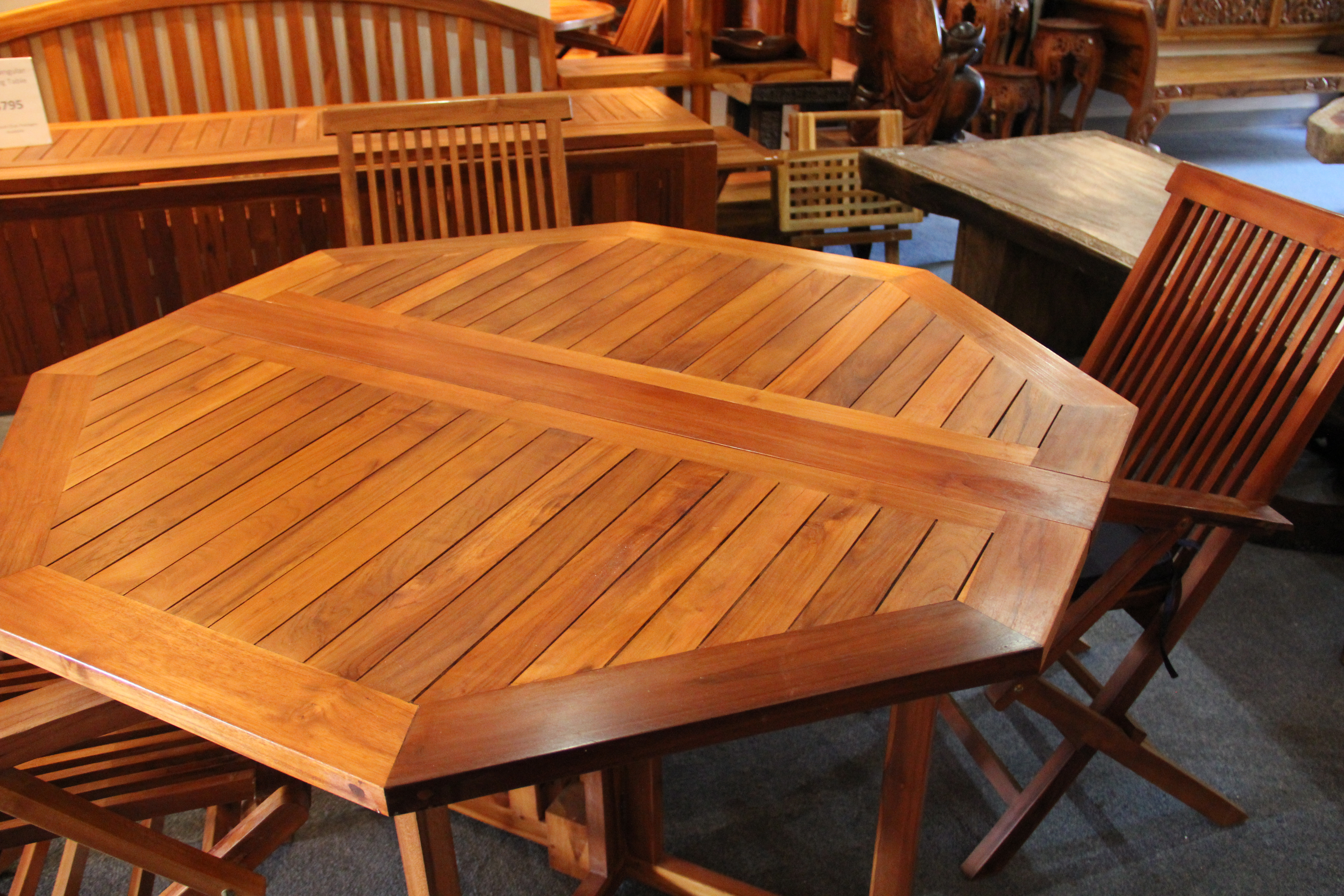 Octagonal Folding Panel Table