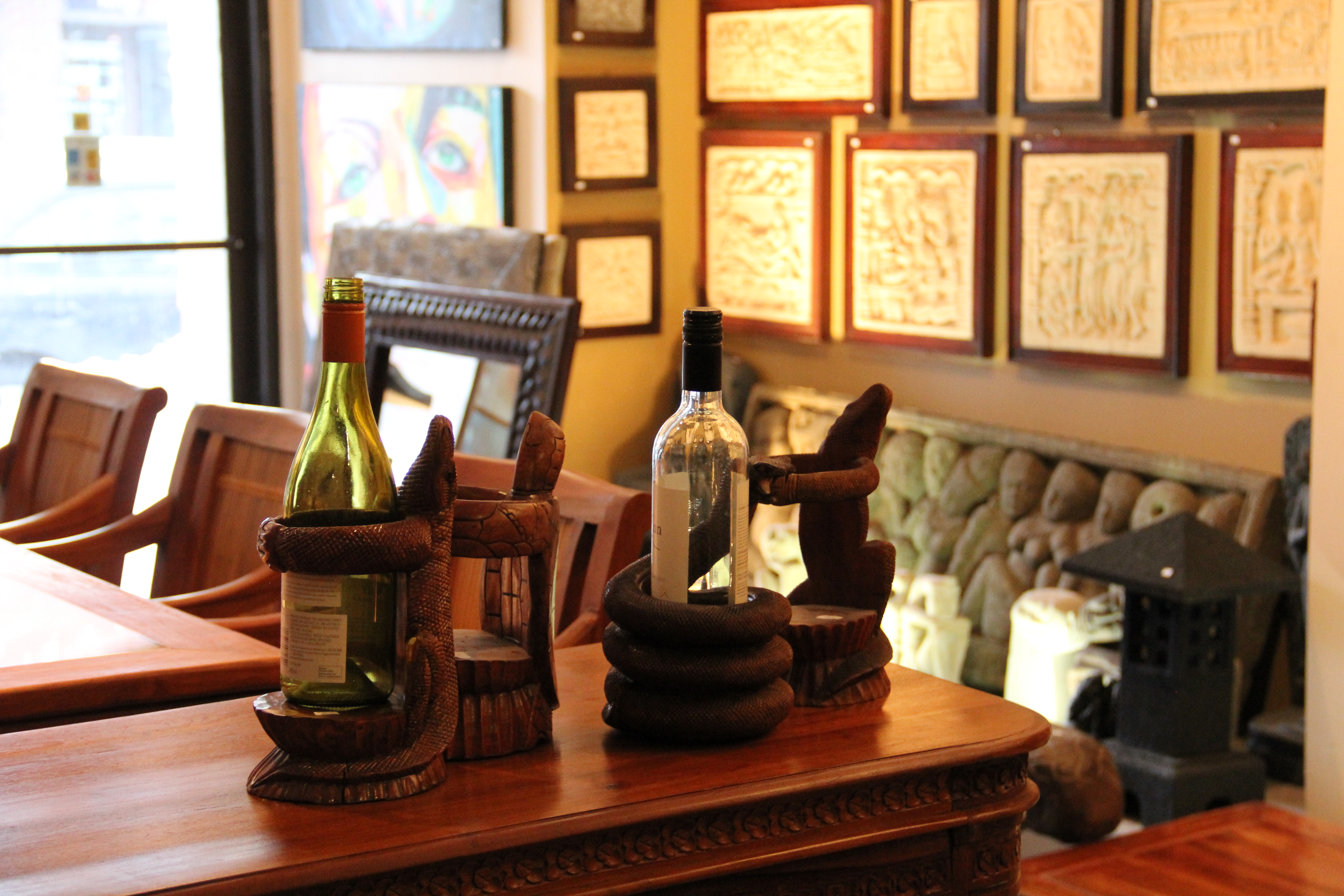 Lizard and Cobra wine holders