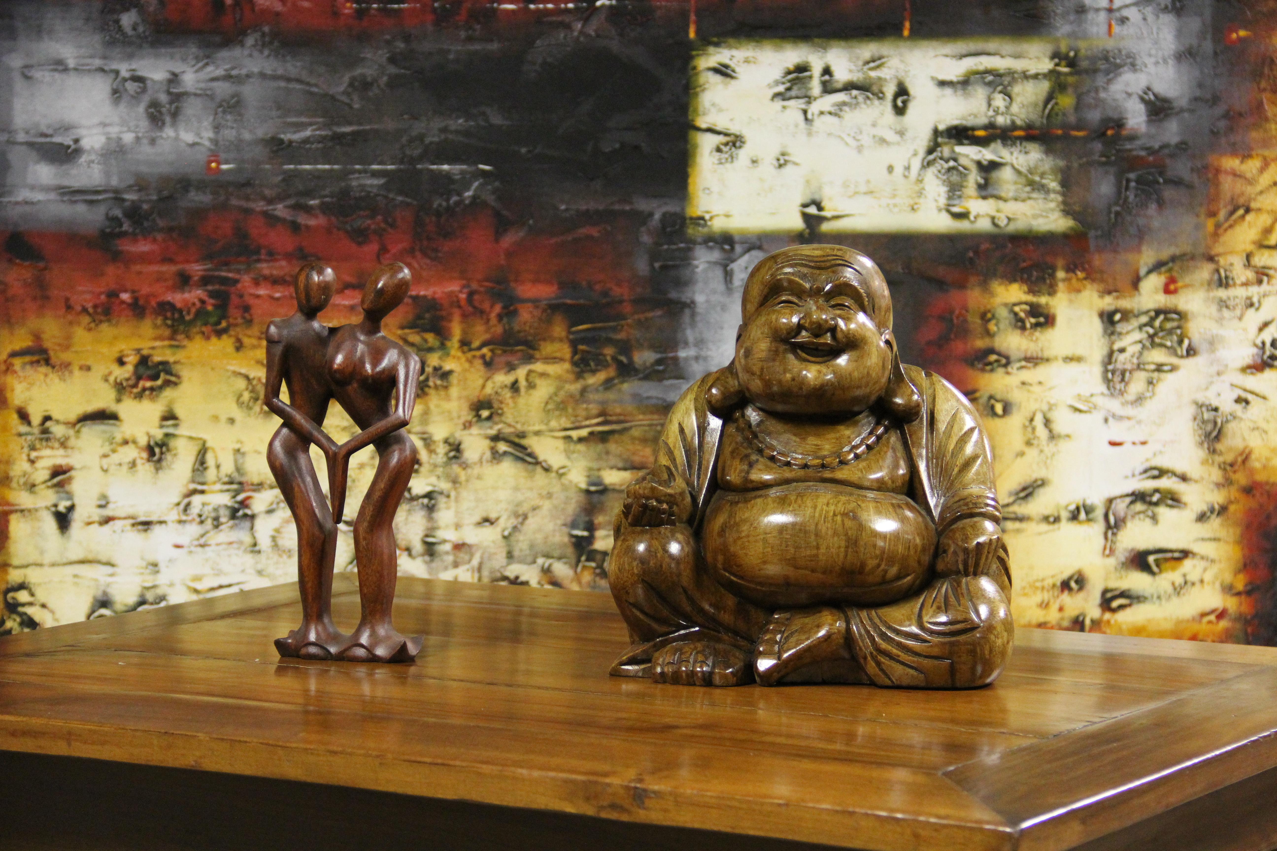 Buddha and Abstract Figures