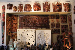 A wide selection of solid wood masks