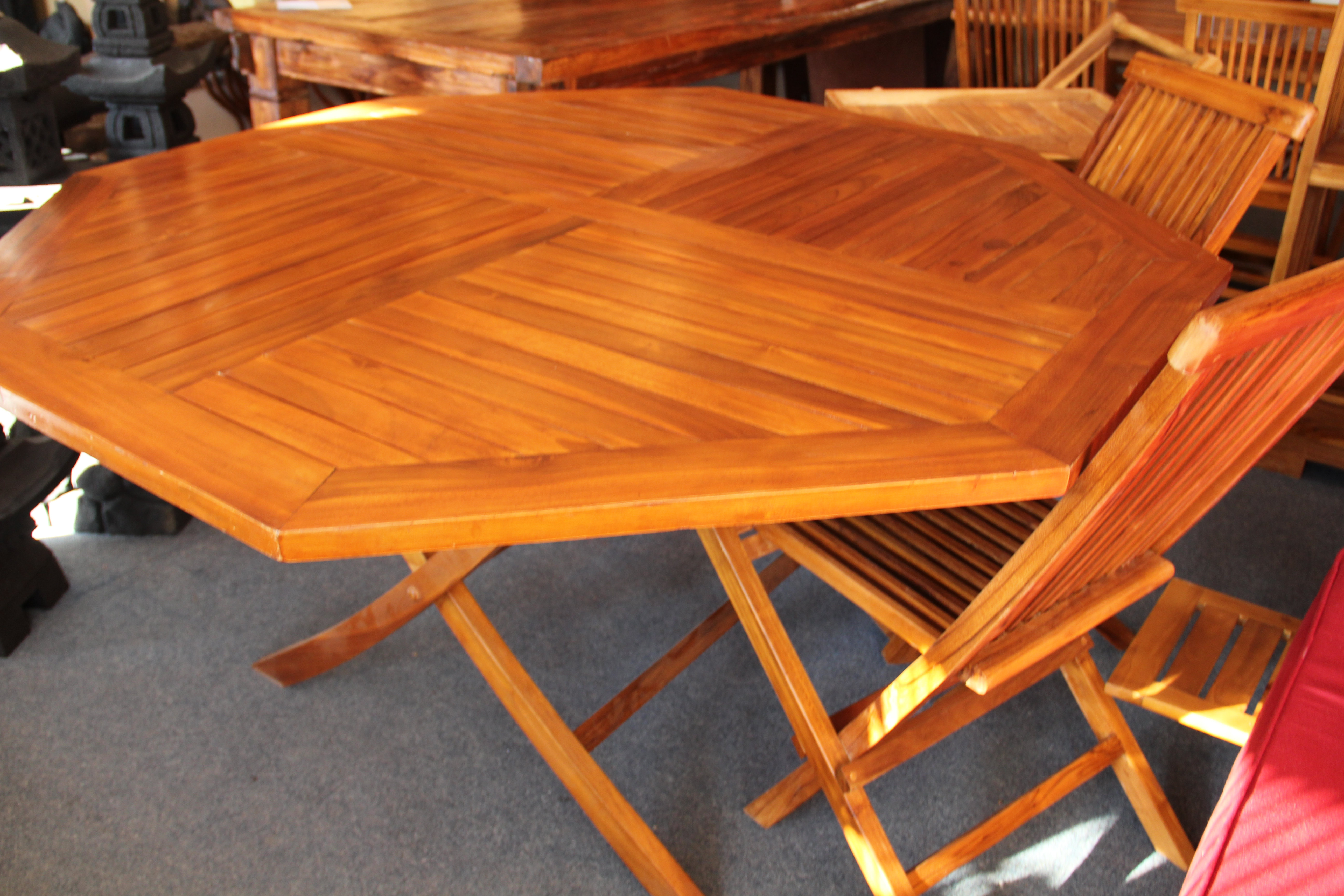 Octagonal Scissor Leg Table