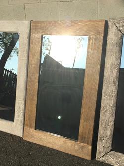 solid teak mirror