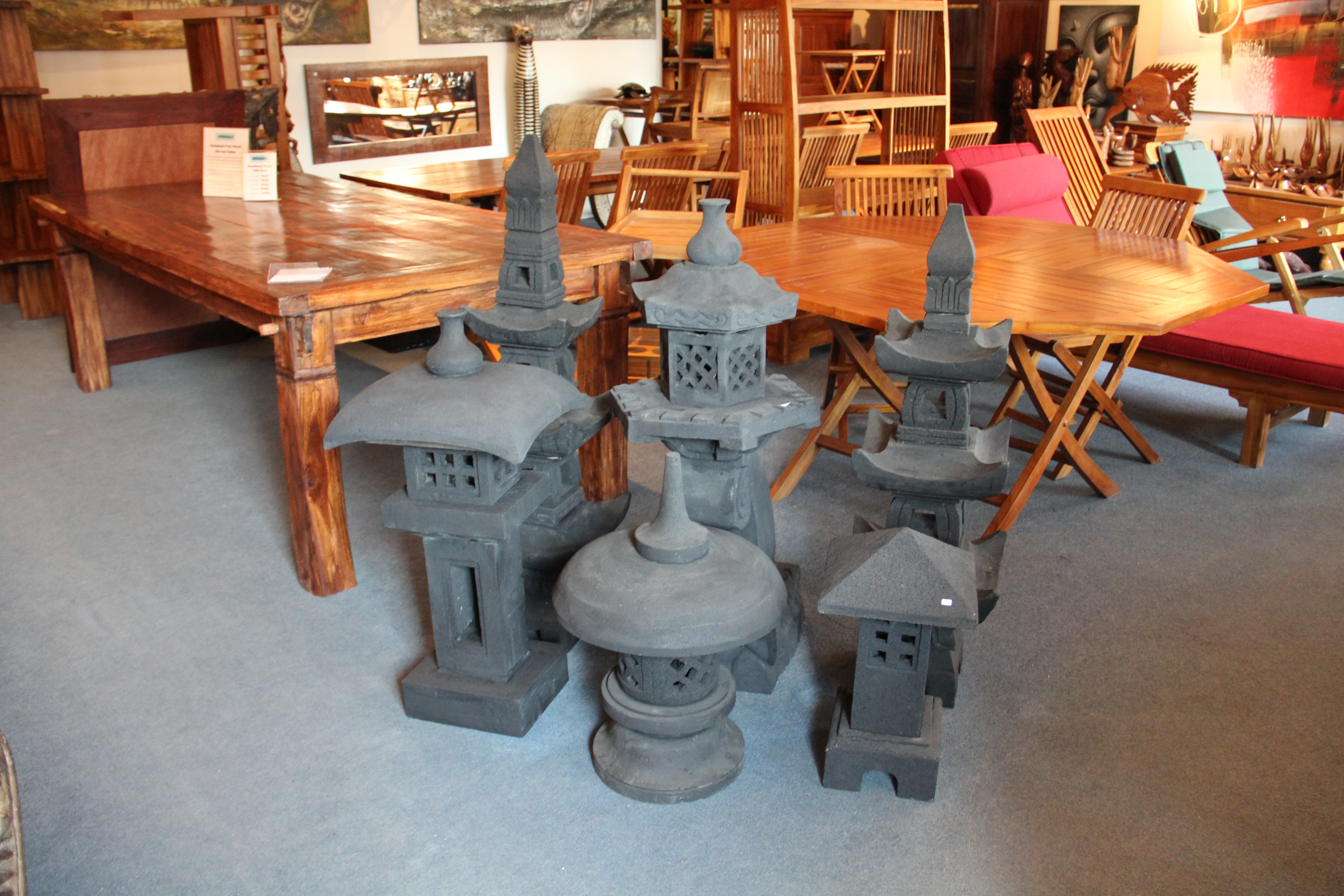 Lava Stone Garden Lanterns