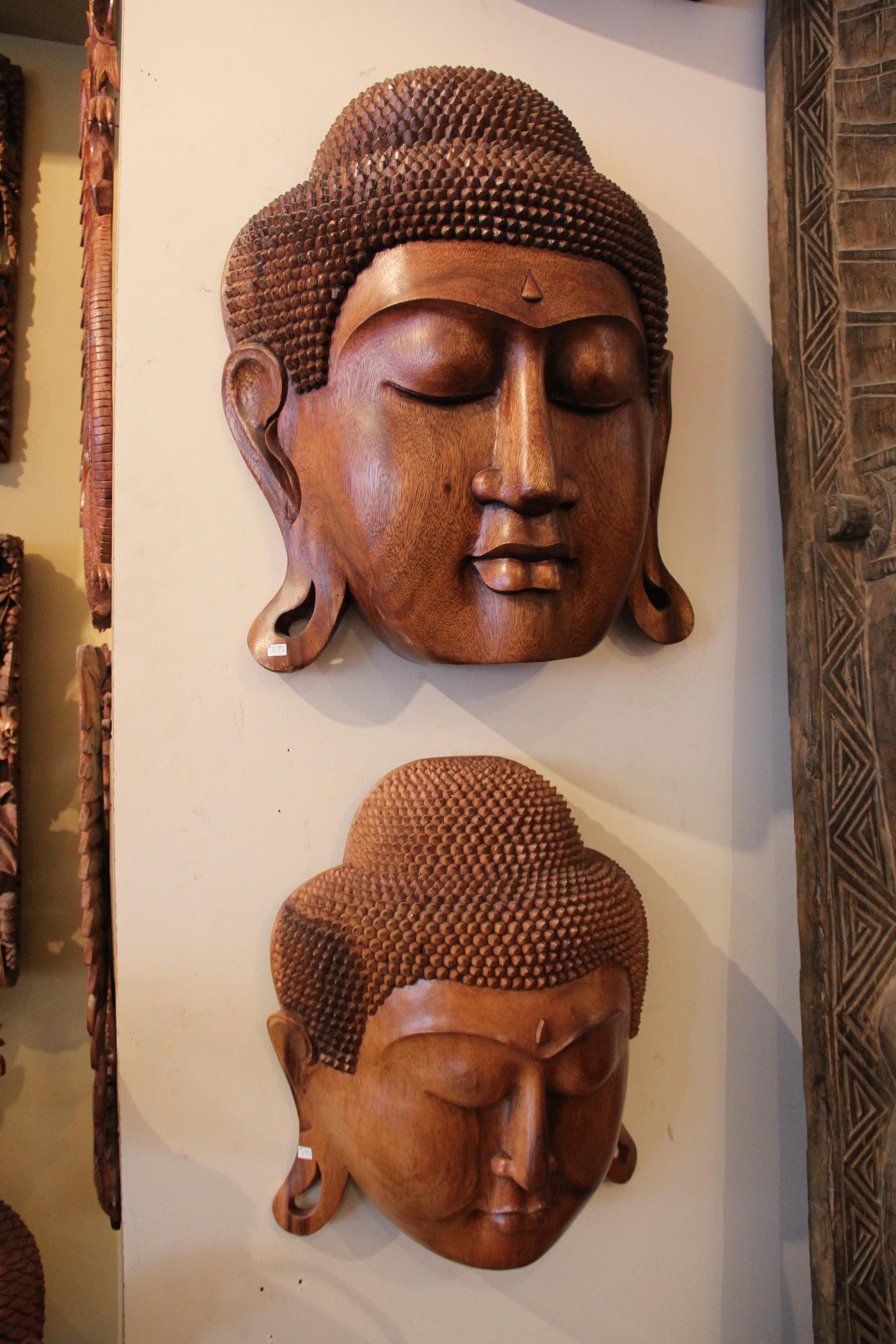 Solid Mahogany Buddha
