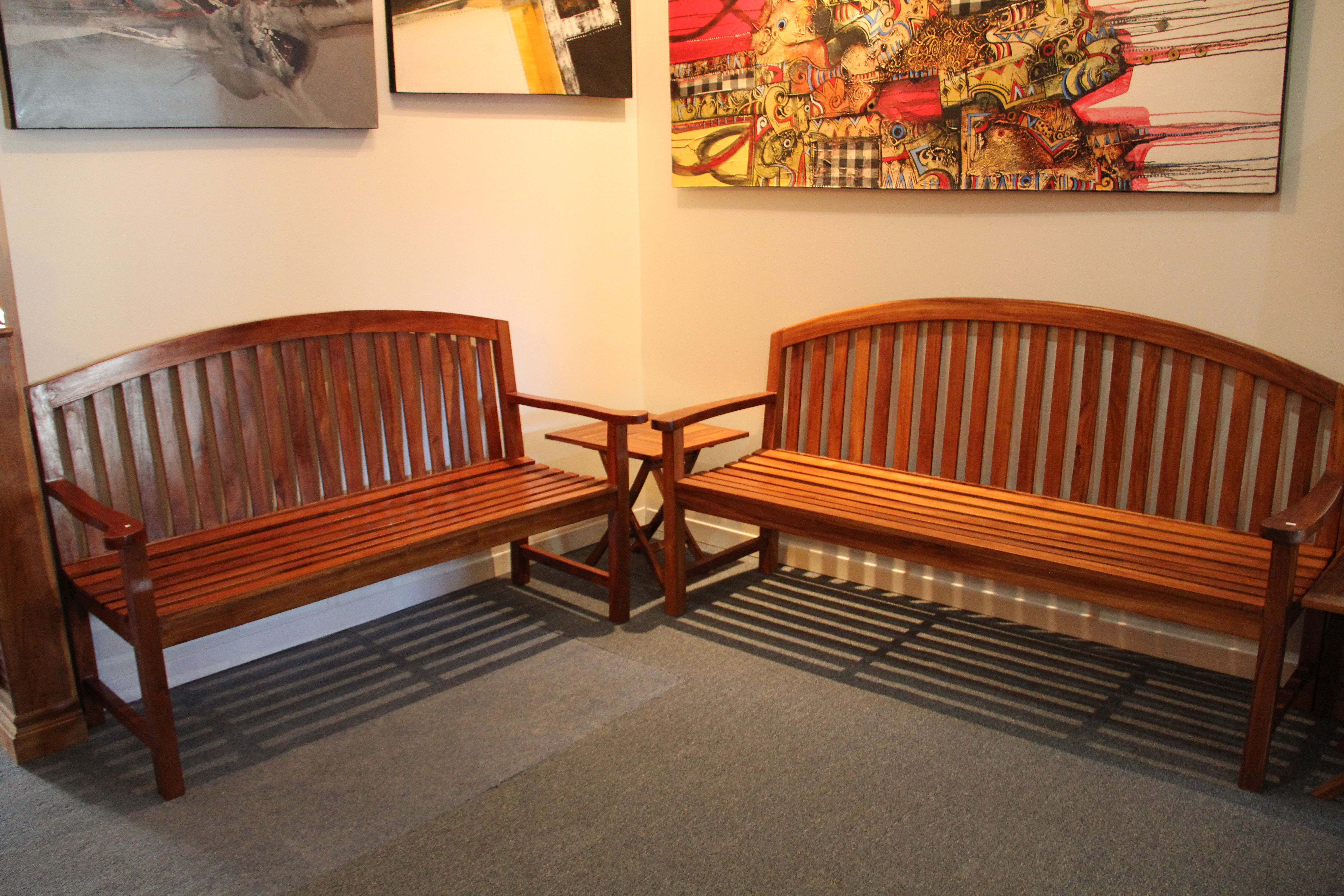 Benches come in two finishes